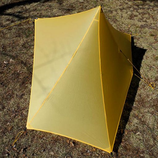 Cricket Pyramid Tarp Back View