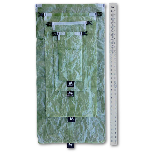 MLD Cuben Fiber Dry Bag Sizes