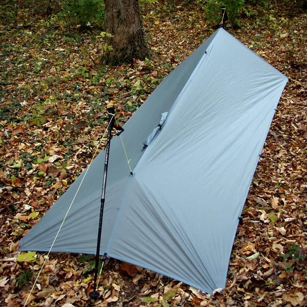 MLD Pro Rain Poncho Tarp Set Up