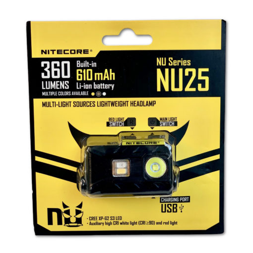 Nitecore NU25 Headlight in Packaging