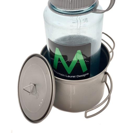 950ml Titanium Pot Width Comparison