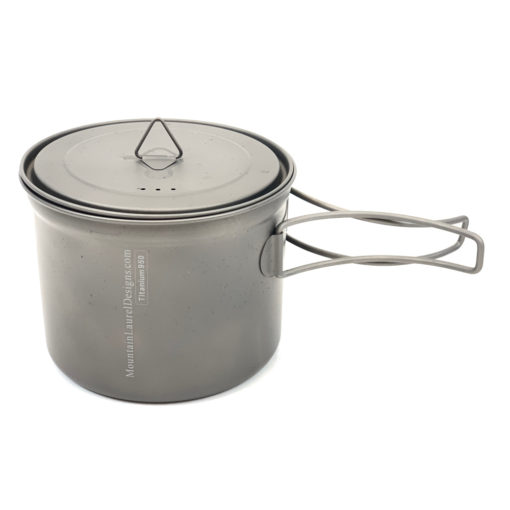950 ml Titanium Pot with Handles Out