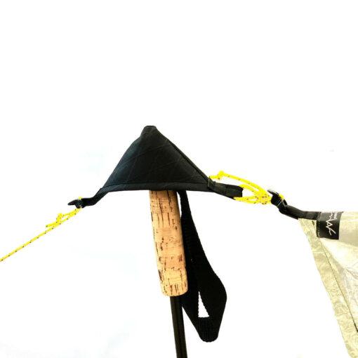 MLD Tarp Pole Cup On a Trekking Pole